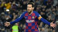 Lionel Messi (112 juta euro) - Lionel Messi merupakan salah satu pemain tersukses hasil akademi Barcelona pada tahun 2001-2004. Pemain berusia 32 tahun ini meraih 6 Ballon d'Or.  (AFP/Lluis Gene)