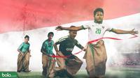 Timnas Indonesia U-18 HUT RI 74 (Bola.com/Adreanus Titus)