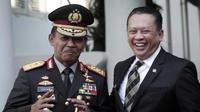 Ketua MPR RI Bambang Soesatyo bersama Kapolri Idham Azis.