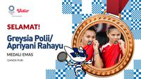 Olimpiade 2020 - Medali Emas Greysia Polii/Apriyani Rahayu (Bola.com/Adreanus Titus)