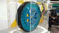 Konsep ban tanpa angin Dunlop Gyroblade. (Septia / Liputan6.com)
