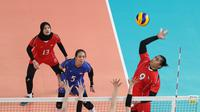 Timnas voli putri Indonesia akan menghadapi lawan berat yakni Jepang pada laga pembuka Asian Games 2018. (Liputan6.com/Faizal Fanani)