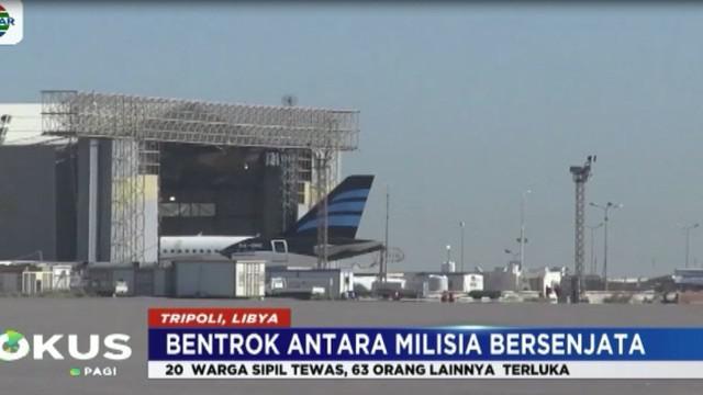 Otoritas Bandara Mitiga Berharap pada hari Rabu  17 Januari 2018, bandara kembali beroperasi.