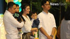 Keceriaan terpancar dari wajah cucu Jokowi, Jan Ethes Srina saat peringatan ulang tahunnya yang pertama,