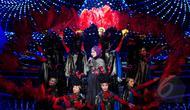 Jebolan Dangdut Academy, Lesti saat memeriahkan malam puncak Puteri Muslimah 2015 di Studio 6 Emtek City, Jakarta, Rabu (13/5) malam. (Liputan6.com/Faisal R Syam)
