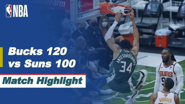 Berita Video, Highlights Pertandingan Final NBA 2021 Antara Milwaukee Bucks Mewlawan Phoenix Suns, Senin (12/7/2021)