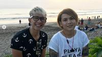 Evelin Nada Anjani bersama Aming saat liburan di Bali (Foto: Instagram Evelin)
