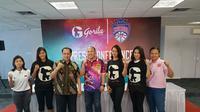Konferensi pers pengumuman Srikandi Cup yang berhasil menggaet sponsor untuk kompetisi 2017-2018  di di Gedung UGM Samator Pendidikan Jakarta, Kamis (11/1/2018), Kamis (11/1/2018). (Humas Srikandi Cup)