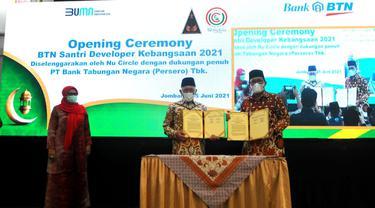 BTN menggandeng Pondok Pesantren Tebuireng di Jombang, Jawa Timur menggelar Pelatihan BTN Santri Developer Kebangsaan 2021