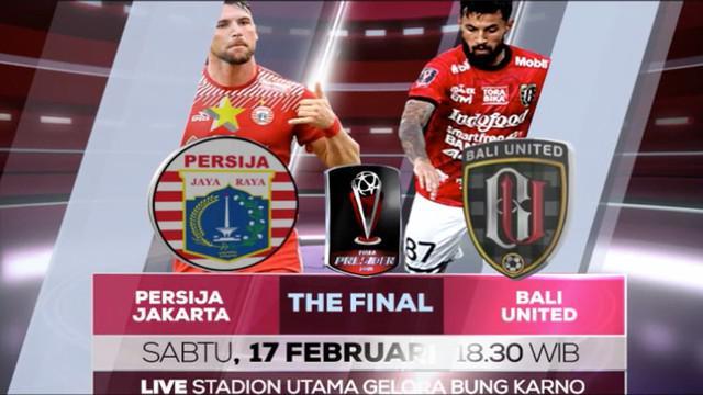 Berita video Final Piala Presiden 2018 yang akan ditayangkan secara langsung di Indosiar serta live streaming di Bola.com dan Vidio.com.