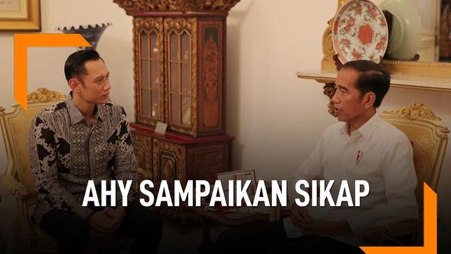 AHY Sampaikan Sikap Usai Temui Jokowi 22 Mei