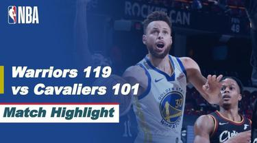 Berita video highlight NBA, Golden State Warriors Bungkam Tuan Rumah Cleveland Cavaliers 119-101, Jumat (16/4/2021)