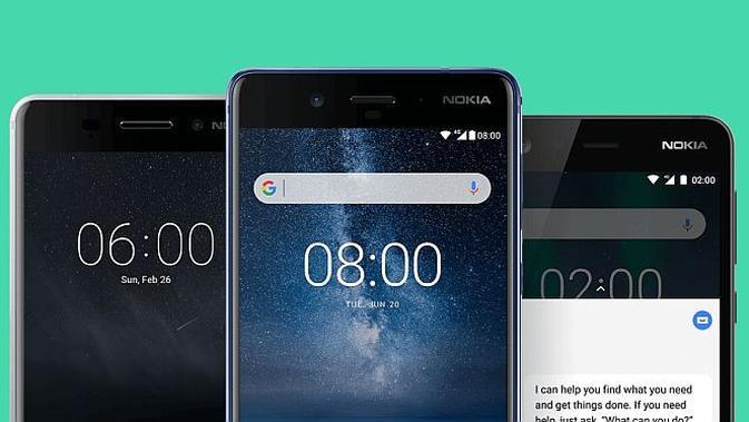 Jajaran smartphone Nokia (Foto: screenshot)