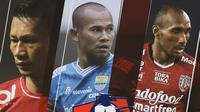 Liga 1 - Ismed Sofyan, Supardi Nasir, Leonard Tupamahu (Bola.com/Adreanus Titus)
