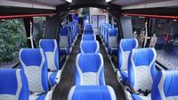 Penampakan interior Bio Smart and Safe Bus. Sebuah perusahaan bus asal Jawa Tengah, Laksana, baru saja meluncurkan bus yang diklaim anticorona. (Solopos/ Imam)
