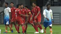 Aksi Timnas Pelajar U-18 Indonesia saat main di laga pertama Asian Schools Football Championship (dok: Kemenpora)