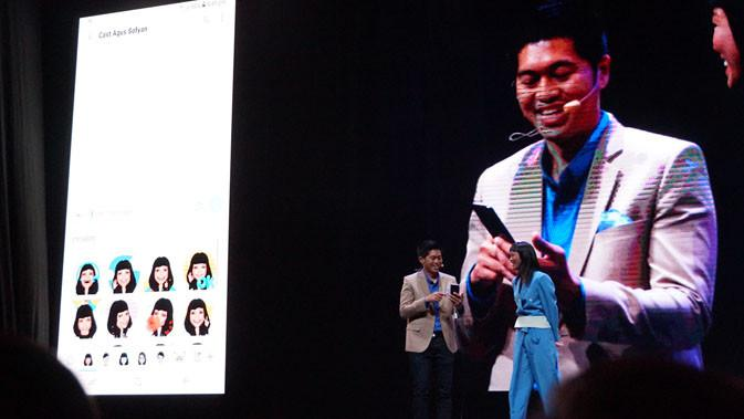 Jo Semidang, IT & Mobile Marketing Director Samsung Electronics Indonesia saat memaparkan fitur-fitur di Galaxy S9 dan S9 Plus. Liputan6.com/ Agustin Setyo Wardani