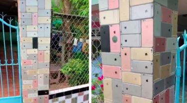 Viral Video TikTok Pagar Rumah yang Dilapisi Ratusan iPhone6