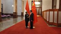 Menteri Luar Negeri RI Retno Marsudi saat pertemuan dengan State Councilor/Menlu China Wang Yi di Great Hall of the People, Beijing, Kamis 24 April 2019 (kredit: Kemlu RI)