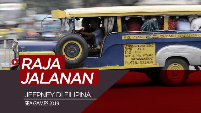 Berita video jurnalis Bola.com, Zulfirdaus Harahap dan M. Iqbal Ichsan, menjajal raja jalanan di Filipina, Jeepney, jelang dihelatnya ajang SEA Games 2019.