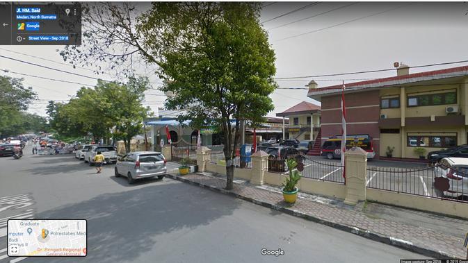 Jl. HM Said - Sekitar Mapolrestabes Medan. Kredit: Google Maps