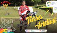 Garuda Kita Asian Games Tiara Andini (Bola.com/Adreanus Titus)