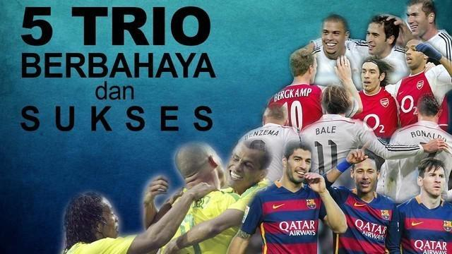 Video 5 trio pemain sepak bola yang sangat berbahaya dan sukses dalam sejarah sepak bola versi TalkSport, salah satunya Trio MSN yang telah membawa Barcelona mendapatkan 5 Trofi sekaligus dalam tahun 2015.