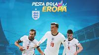 Piala Eropa - Harry Kane, Declan Rice, Mason Mount (Bola.com/Adreanus Titus)