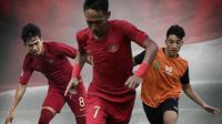 Timnas Indonesia - Mesin Permainan Timnas U-19: Witan Sulaeman, Beckham Putra, Jack Brown (Bola.com/Adreanus Titus)