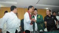 PKB dan PDIP sepakat membangun kerjasama dalam kebersamaan yang bersifat jangka panjang, Sabtu (10/5/14). (Liputan6.com/Herman Zakharia)