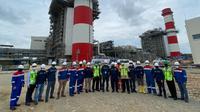 Asisten Deputi Kerjasama Ekonomi Asia Kementerian Koordinator Bidang Perekonomian Bobby C. Siagian dan tim melakukan monitoring progres pembangunan PLTGU Jawa-1.
