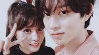 Heechul Super Junior - Momo TWICE (sumber: koreaboo)