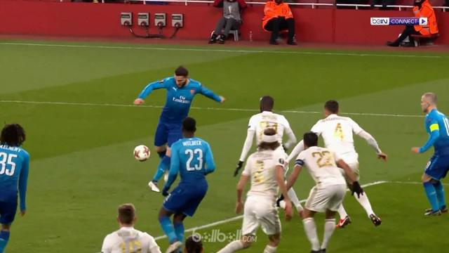 Arsenal takluk 1-2 dari Ostersunds pada leg kedua 32 besar Liga Europa. This video is presented by Ballball.