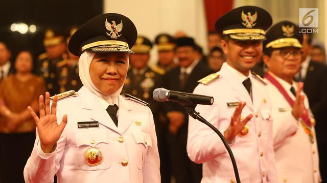 Sah, Khofifah-Emil Jabat Gubernur dan Wakil Gubernur Jatim