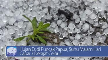 Daily TopNews hari ini akan menyajikan berita seputar hujan es di puncak Papua, dan peringatan untuk umat muslim agar jangan lupa membayar zakat fitrah sebelum berlebaran. Bagaimana berita lengkapnya? Langsung lihat videonya yuk