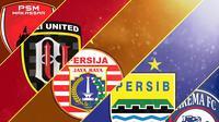 Trivia 5 Klub Kandidat Juara Liga 1 2019 (Bola.com/Adreanus Titus)