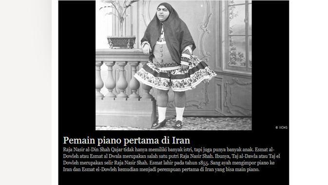 [Cek Fakta] Princess Qajar, Simbol Kecantikan Persia yang Bikin 13 Pria Bunuh Diri? (DW/IICHS)