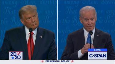 Debat capres AS yang terakhir antara Donald Trump dan Joe Biden.
