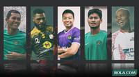 Trivia - Pemain Hamka Hamzah, Abdul Rahman, Hilton Moreira, Dandi Maulana, Donny Monim (Bola.com/Adreanus Titus)