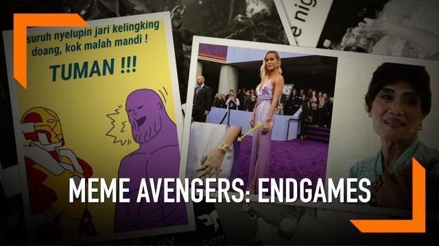 Menyambut film Avengers: Endgame yang sedang digemari, warganet banyak membuat meme lucu yang bikin kita kebelet buru-buru nonton.