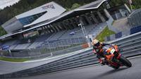 Pembalap penguji KTM, Dani Pedrosa bakal mentas pada balapan MotoGP Styria di Sirkuit Red Bull Ring. (Twitter/KTM)