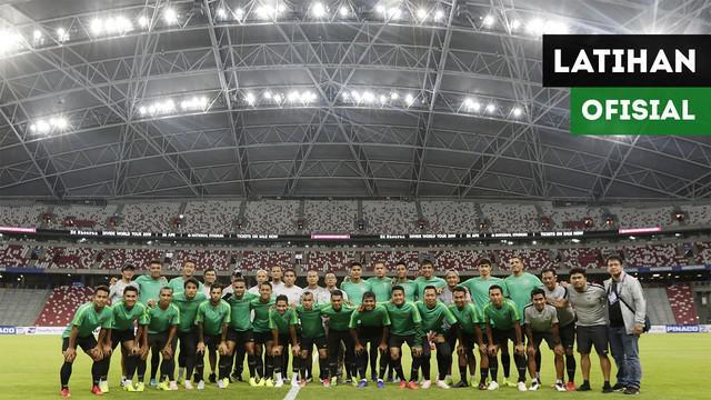 Berita video vlog Bola.com mengikuti aktivitas Timnas Indonesia di Singapura pada hari kedua, Kamis (8/11/2018)