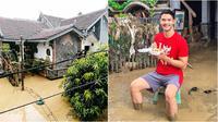 Kondisi rumah Kevin Andrean usai dilanda banjir (Sumber: Instagram/kev_andrean)