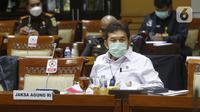Jaksa Agung Burhanuddin saat Rapat Dengar Pendapat (RDP) bersama Komisi III DPR RI ,di Jakarta, Selasa (26/1/2021). Rapat juga membahas penanganan kasus-kasus yang menarik perhatian publik dan strategi peningkatan kualitas SDM. (Liputan6.com/Angga Yuniar)