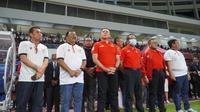 Ketua PSSI, Mochamad Iriawan dan Menpora Zainudin Amali saat membuka Liga 2 2020. (PSSI).