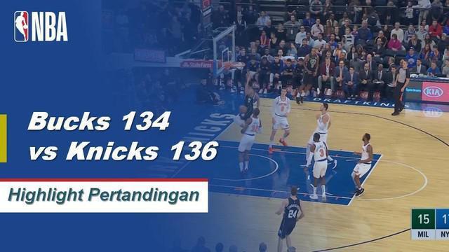 Emmanuel Mudiay mencetak skor 28 poin dan Kevin Knox menambahkan 26 poin dari bangku cadangan New York Knick menahan Milwaukee Bucks di over time