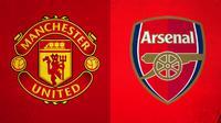 Logo - Manchester United dan Arsenal (Bola.com/Adreanus Titus)