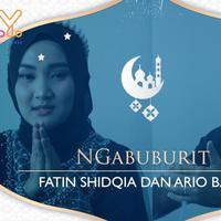 Ini yang dilakukan Fatin Shidqia dan Ario Bayu menunggu waktu buka puasa