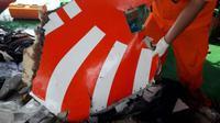 Serpihan pesawat Lion Air JT 610 jatuh di Karawang. (Basarnas)