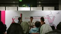 Desainer Auguste Soesastro saat menghadiri peluncuran Kamus Mode Indonesia di Jakarta. (Liputan6.com/Dinny Mutiah)